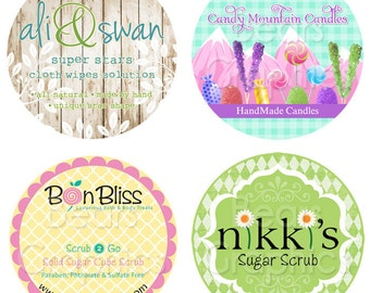 Custom Label Design, Sticker Graphic Design for Jewelry, Soap, Candles, Weddings, Bath and Body, Honey, Eggs, Cosmetics