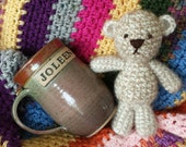 Tiny Teddy Bear, Newborn Photo Prop, Baby Shower Gifts - Made to Order