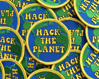Hack The Planet  : Hackers / 70s Inspired Embroidered Patch