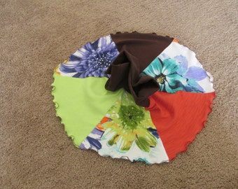 Boutique Custom Girl Summer FLOWER Knit Skirt! Recycled materials! ECO Friendly! 2T! 24Mo!