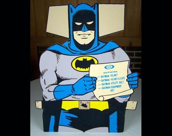 1966 Ideal Batman Store Display manikin sent to vendors to help advertise the entire line of Ideal Batman Toys
