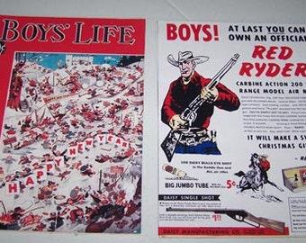 1939 Boy's Life Magazine with A Christmas Story Red Ryder reproduction ad on the back