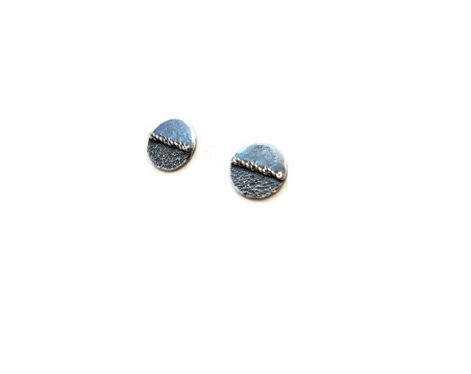 Sterling Silver Small Middle Way Post Earrings