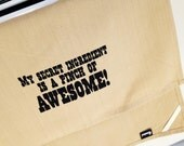 My secret ingredient is a pinch of awesome kitchen dish towel. Silk screened cotton tea towel.