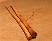 Handcarved Applewood Chopsticks - Pair No. 4