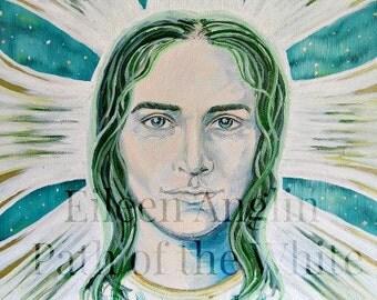 Archangel Raphael, Angelic Energy Art by Eileen Anglin, Angel Art, Energy Art, Feng Shui, Healing 8 x 10 Giclee