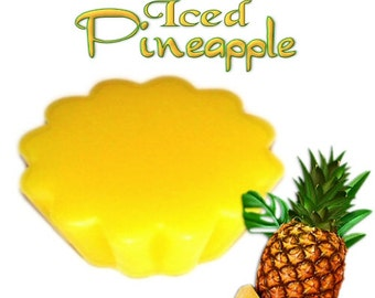 4 Iced Pineapple Wax Tarts Candle Melts Fresh Tropical Fruit Scent