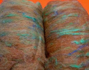 njy alpaca silk home raised batts for spinning or felting FREE USA SHIPPING
