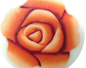 Polymer clay millefiore cane - orange rose