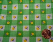 QUARTER YARD VINTAGE fabric green gingham doll Blythe dress making quilt quilter quilting tiny print