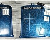Police Box Tic Tac Toe Board CUSTOM