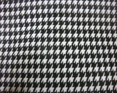 Decorative Pillow Cover Black White Houndstooth Great Coordinate Traditional Classic Design Same Fabric Front/Back Throw Toss 18x18 inch x