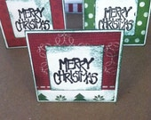 Merry Christmas Dots and Stripes Note Cards / Gift Tags / Place Cards Set Of 20