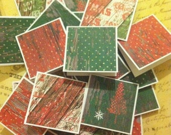 Christmas polka dots Note Cards / Gift Tags / Place Cards Set Of 20