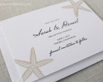Starfish Save the Dates, Beach Save the Dates, Tropical Save the Dates, Beach Wedding, Destination Wedding, Tropical Wedding, Island