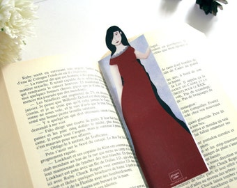 Snow white silhouette bookmark - illustrated and laminated