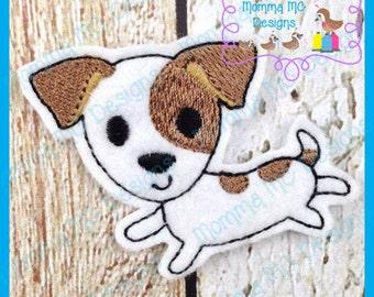 Jack Russell Terrier Feltie Machine Embroidery Design