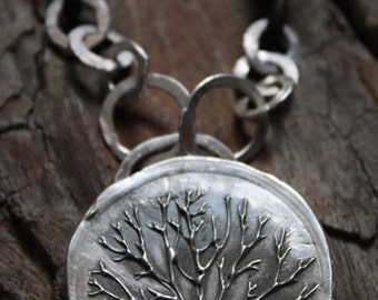 Fine Silver - Stay Strong Tree Necklace