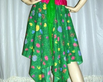 Ornament Fairy Skirt Christmas Kitsch Skirt Pink Green Dress Vintage Pine Pixie Hem Ugly Sweater Party Adult S M L XL Plus Christmas