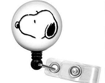 Choose Your Color SNOOPY SILHOUETTE Retractable Badge Reel