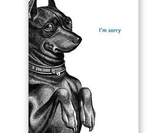 Dog Sorry Card