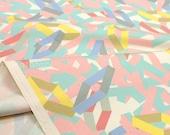Japanese Fabric Kokka JUBILEE printed matter line - Frames - C - 50cm