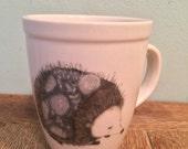 blue hedgie mug