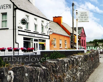 Co. KERRY, Quaint Irish Village, Ireland Photography, SNEEM,Ring of Kerry,Quintessential Ireland, Irish Pub,Cute Street Scene, Colorful Town