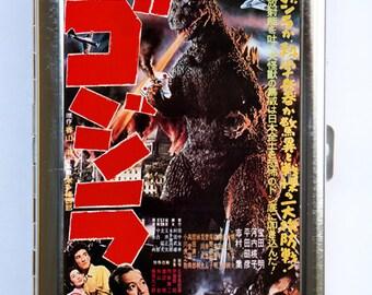 Godzilla Cigarette Case Wallet Business Card Holder sci-fi b-movie Dinosaurs