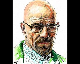 """Print 8x10"""" - Walter White - Jesse Pinkman Breaking Bad Heisenberg Bryan Cranston Aaron Paul Meth Drugs Pop Art Lowbrow Art Chemistry"""