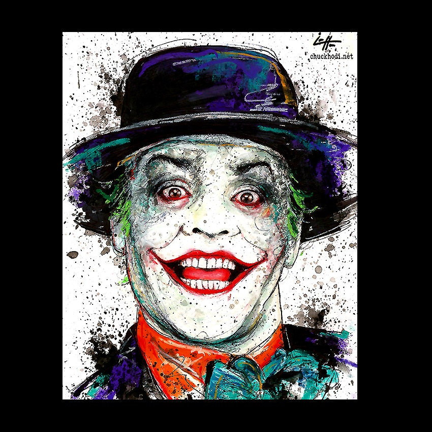 Print 8x10 The Joker Jack Nicholson Batman Villian