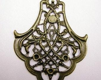 24pc antique bronze iron pendant-4198x4