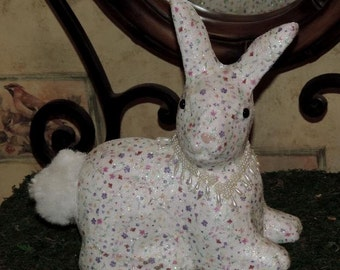 easter rabbit, easter bunny,colorful rabbit,colorful bunny,easter bunny decoration,pet lover,white rabbit,OOAK rabbit,OOAK bunny,handmade
