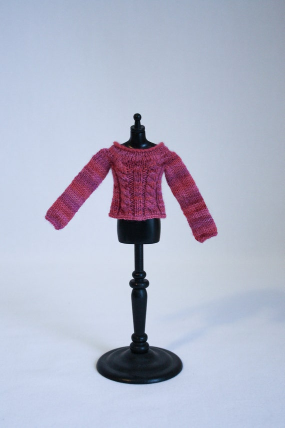 Blythe Doll Edith Sweater Knitting Pattern Cables Short