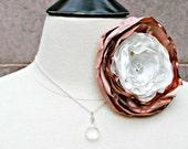 Crystal Swarovski Pendant Necklace, Simple, Elegant Sterling Silver, Bridesmaids Gifts, Layering, Wedding, Bridal, Long, Delicate, Sparkle
