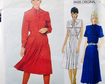 Vintage Vogue Paris Original Sewing Pattern Guy Laroche Dress Uncut 31 or 32 bust
