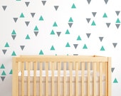Triangle Wall Decals - Triangle Decals - Geometric Wall Mural Decal - confetti triangles - Statement Wall Decal - WD1076