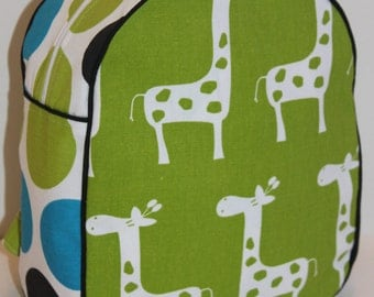 Ready to Ship Handmade Giraffe Backpack for a Toddler- SALE-CLEARANCE TAKE 30% off- no coupon code needed