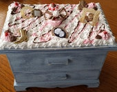 Decoden Wooden Jewelry Box With Drawers