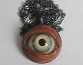 Large Green Human Eye Pendant LG-GRN-4