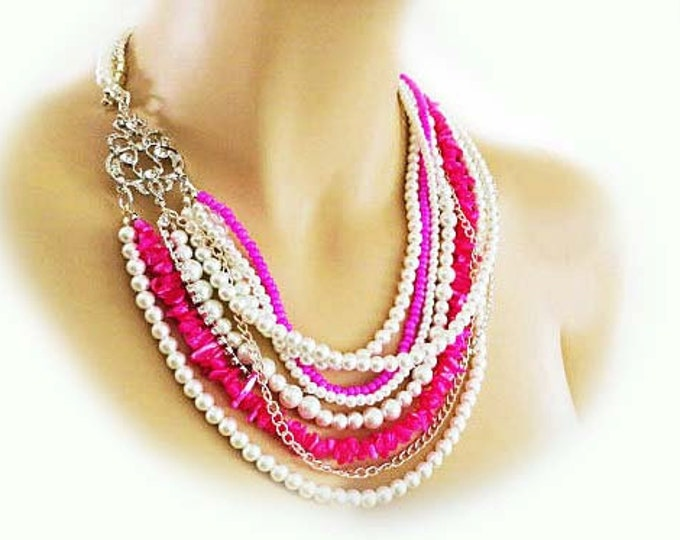 Chunky Hot Pink Necklace