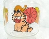 Vintage Garfield pitcher, orange juice jug, glass pitcher, kitchen decor