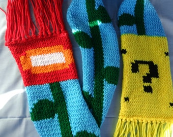 Mario Brothers-inspired scarf