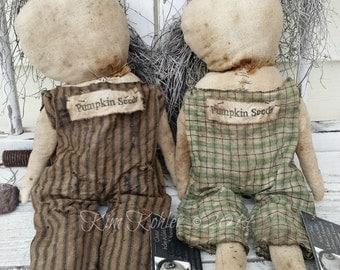 Primitive Pumpkin Snowman Top Hat Doll Pattern INSTANT Download PDF E Patterns Christmas Halloween Prim Cloth Fabric Veenas Mercantile