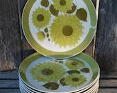 Vintage Mikasa Duplex Dahlia Dinner Plates ~ Ben Seibel
