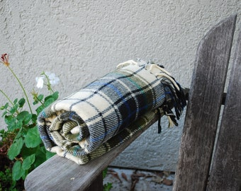 Vintage  Plaid Stadium Blanket