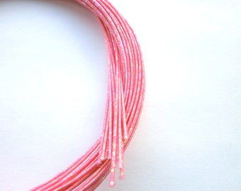 Mizuhiki Japanese Decorative Paper Strings Cords Sparkly Pink