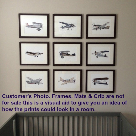 Airplane Decor Airplane Art Decor Vintage Airplane Nursery