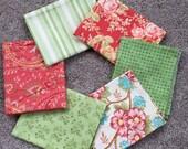 Fabric Destash no. 124, 125, 126, 127 -- 6 Fat Quarters