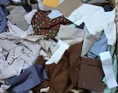 Fabric Destash no. 250 -- 5 pound box of Dark Scraps